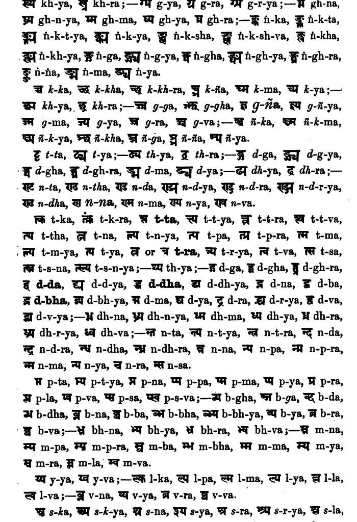 Compound Consonants from Max Mueller (MacDonell, Ed.) (1886)